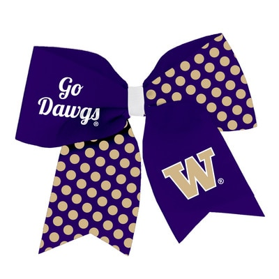 Washington Huskies Spirit Cheer Gear Ribbon Barrette