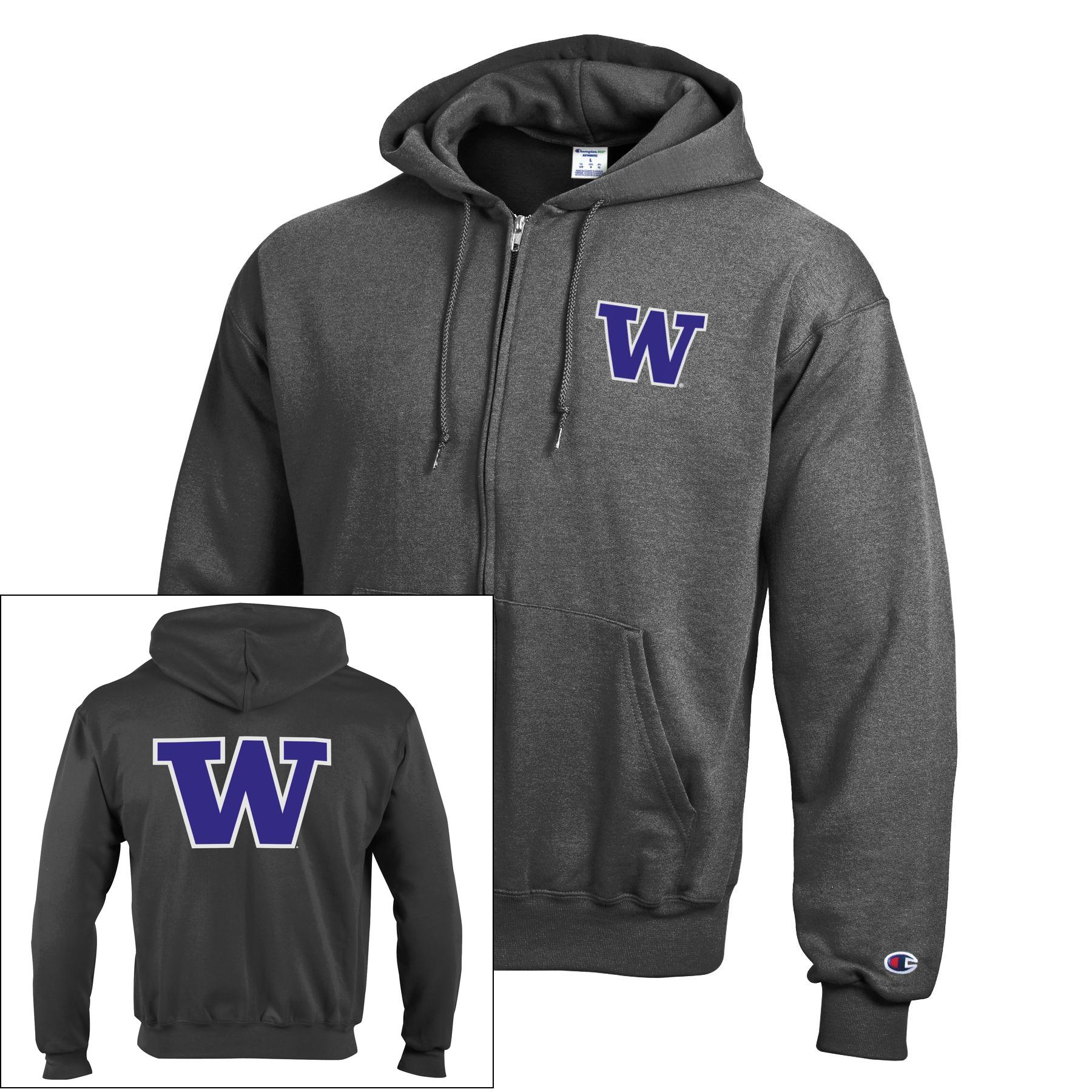 Washington Huskies Champion Powerblend Full-Zip Hoodie