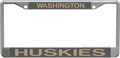 Washington Huskies Aryclic Carbon License Plate Frame