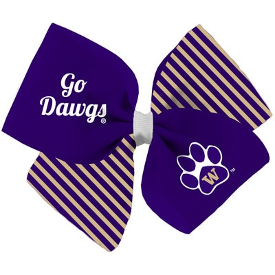 Washington Huskies Spirit Cheer Gear Bow Barrette