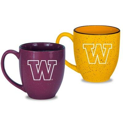 Washington Huskies Set of 2 16oz Speckled Ceramic Mug