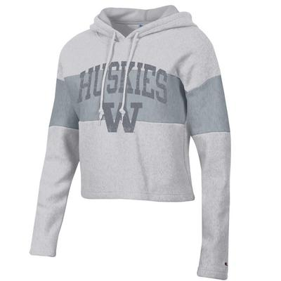 Washington Huskies Reverse Weave Crop Hood