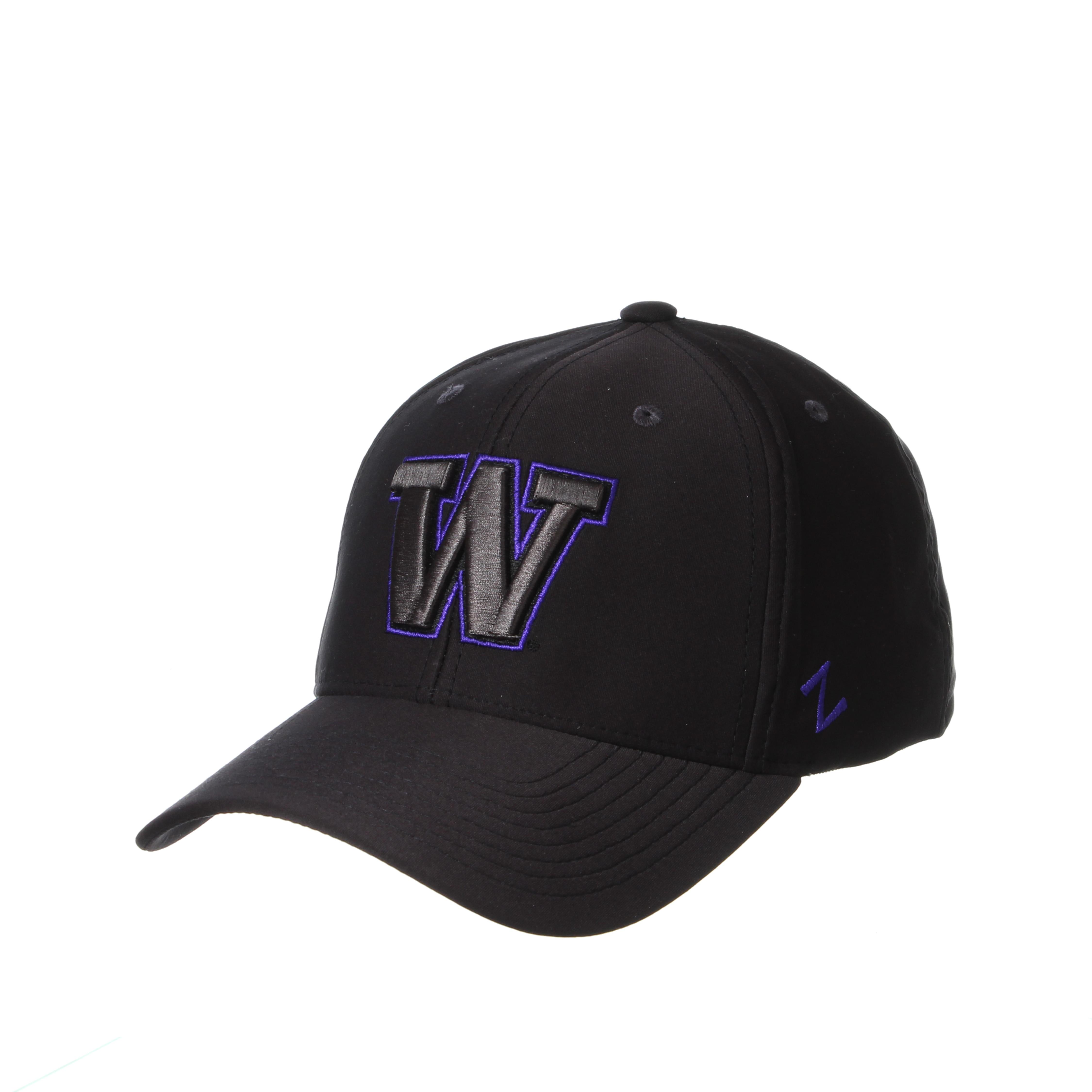 Washington Huskies Zephyr Phoenix Structured Curved Bill Stretch Fit Cap Hat
