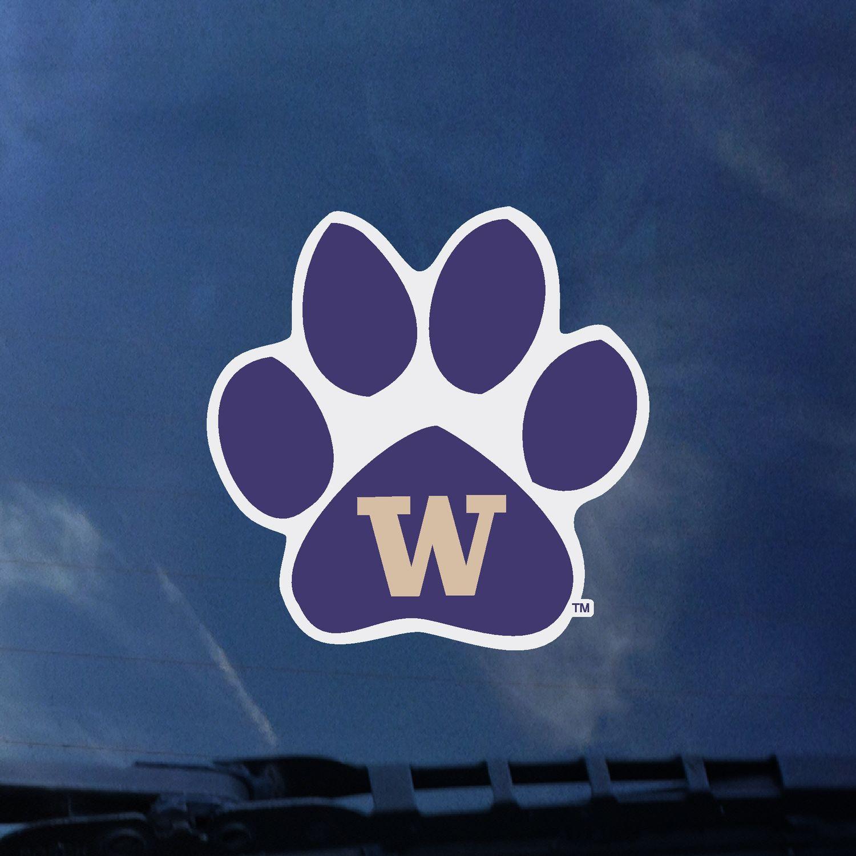 Washington Huskies Color Shock Auto Decal