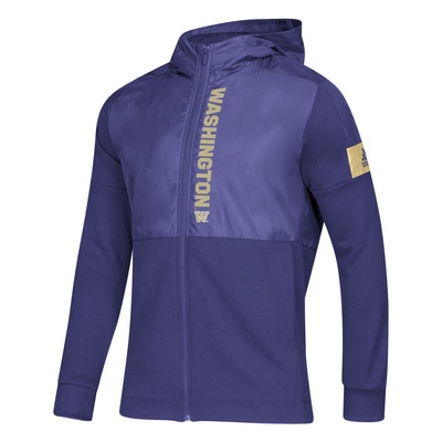 Washington Huskies Adidas Men's Game Mode Full Zip Jacket