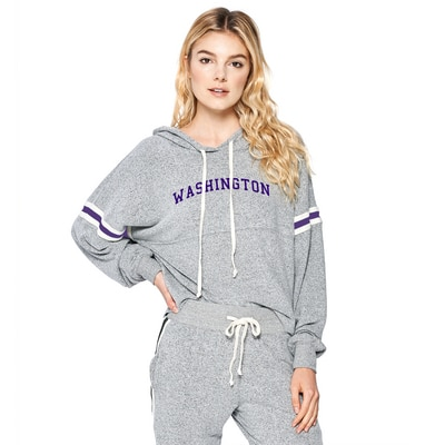 Washington Huskies Brushed Contrast Tape Hoodie