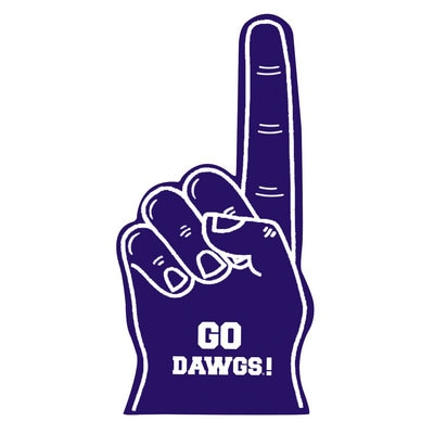 Washington Huskies 16 inch FOAM FINGER 16""