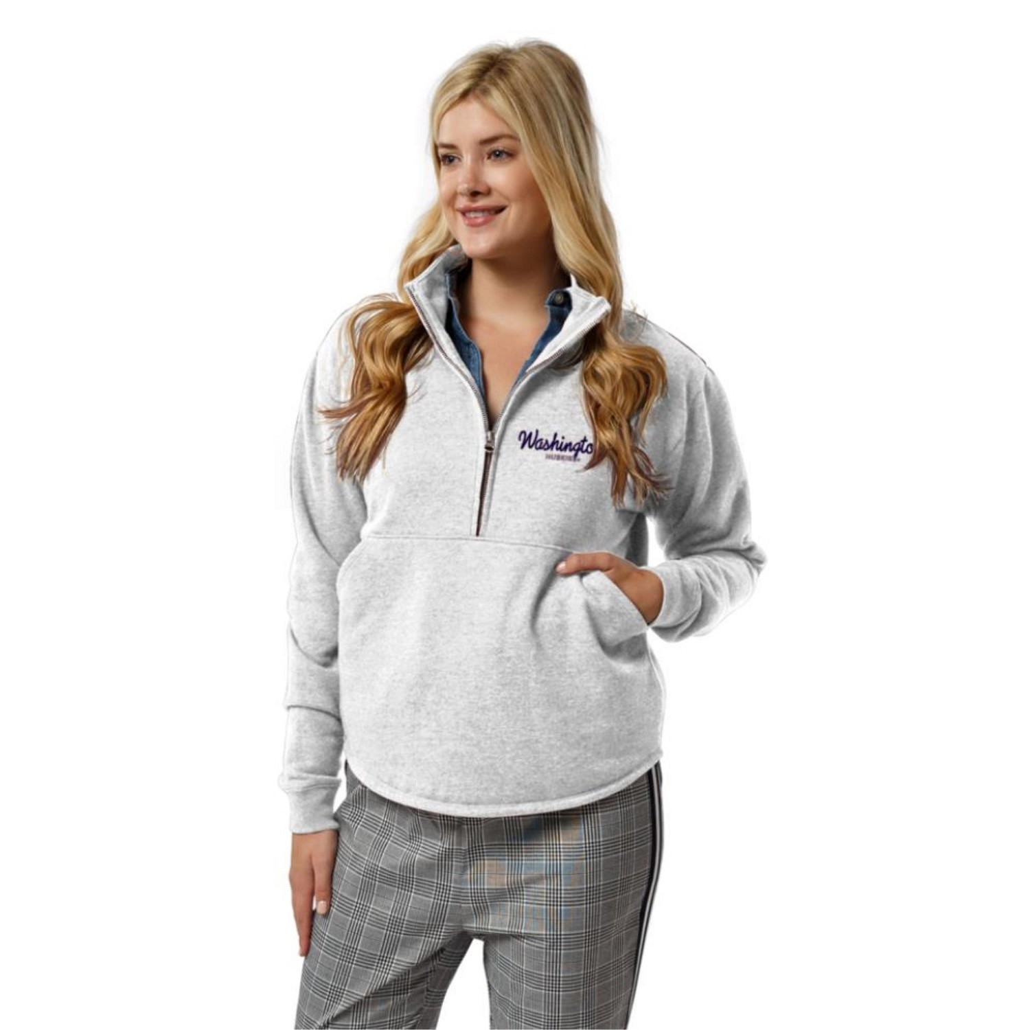Washington Huskies  Women's Victory Springs Quarter Zip Sweatshirt
