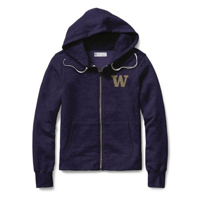 Washington Huskies Womens Classic Full Zip Hoodie