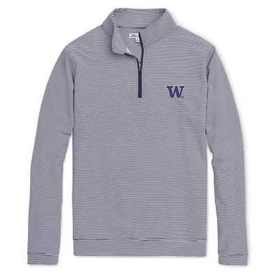 Washington Huskies PERTH MINI STRIPE 1/4 ZIP
