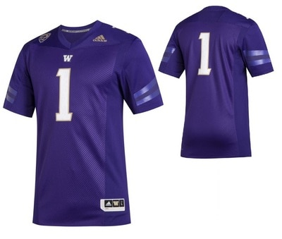 Washington Huskies Adidas Men's Premier Graphic Replica Jersey
