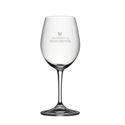 Washington Huskies Riedel White Wine Glass