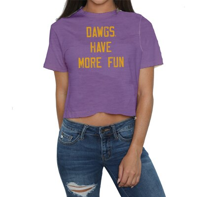 Washington Huskies Slub Crop T Shirt