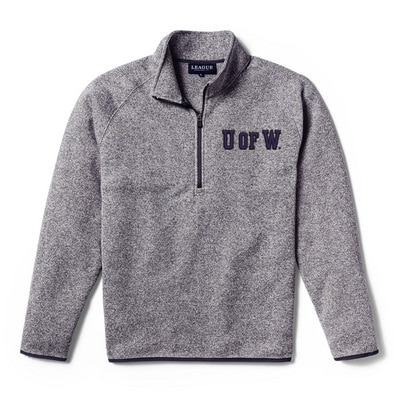 Washington Huskies League Saranac Sweaterfleece Quarterzip Pullover