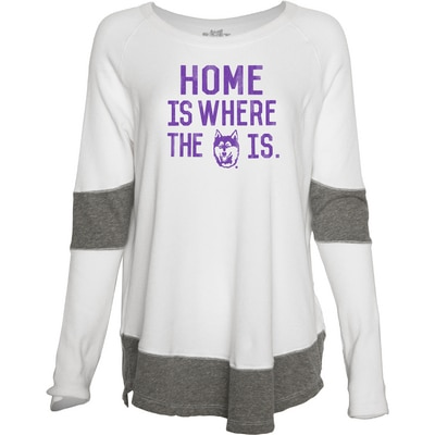 Washington Huskies Contrast Boyfriend Thermal L/S