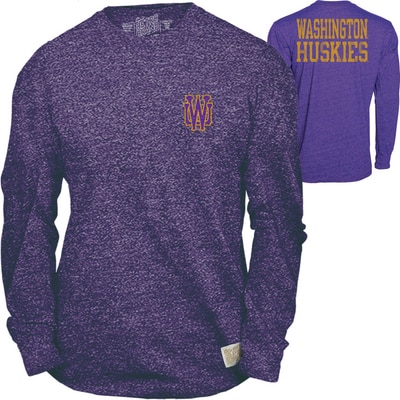 Washington Huskies Mock Twist 2 Loc L/S Tee