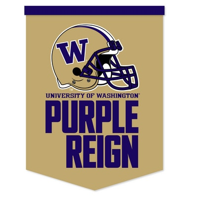 Washington Huskies 18 x 24 Rafter Banner with Logo