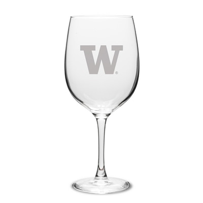 Washington Huskies Red Wine Glass