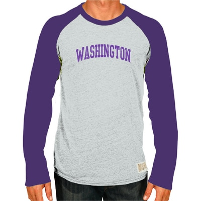 Washington Huskies Raglan L/S Tee