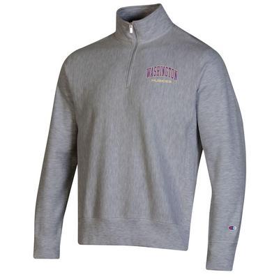 Washington Huskies Champion Men's Reverse Weave Half Zip Sweatshirt