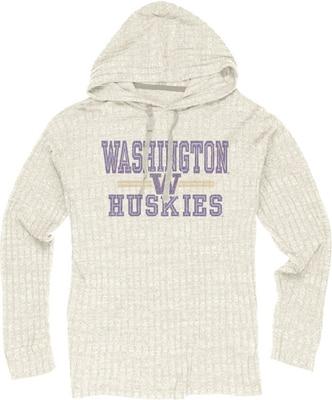 Washington Huskies Ribbed Hacci Pullover Hoodie