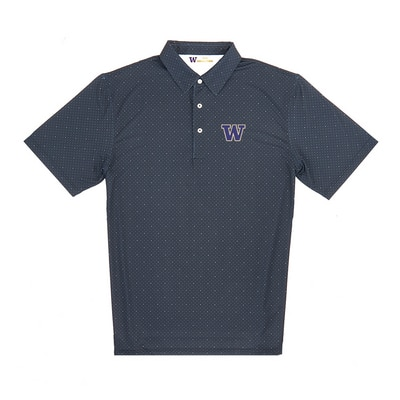 Washington Huskies Dual Dot Polo