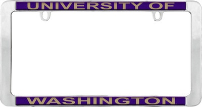Washington Huskies Domed License Plate Frame