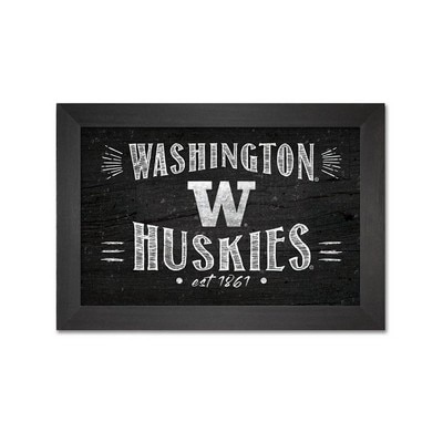 Washington Huskies Framed Art Wood 7x10