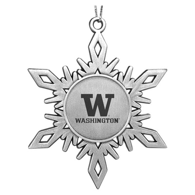 Washington Huskies Metal Snowflake Shaped Ornament