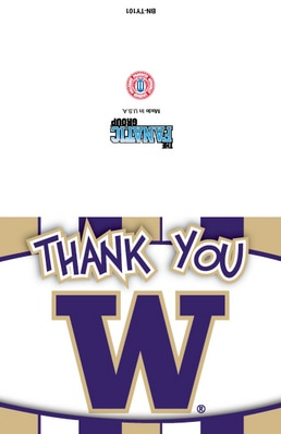 Washington Huskies Thank You Card Packs with 10 Cards and Envelopes