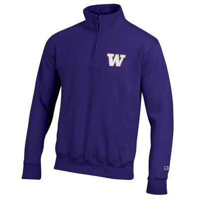 Washington Huskies Champion Powerblend Quarter-Zip Pullover
