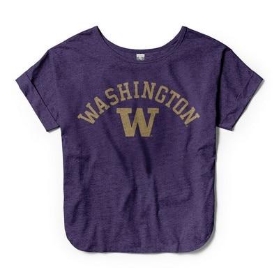 Washington Huskies Womens V Neck T Shirt