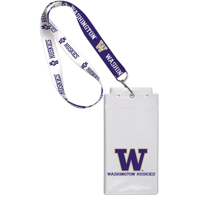 Washington Huskies Lanyard Credential Holder