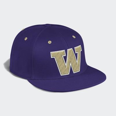 Washington Huskies Adidas Fitted Wool Hat