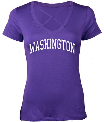 Washington Huskies Boss Cross Short Sleeve T Shirt