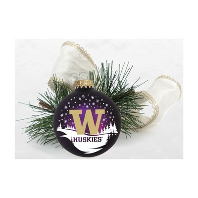 Washington Huskies Glitter Ornament