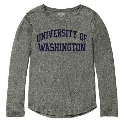 Washington Huskies Red Shirt Long Sleeve T Shirt