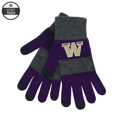 Washington Huskies LogoFit Trixie Rugby Striped Glove