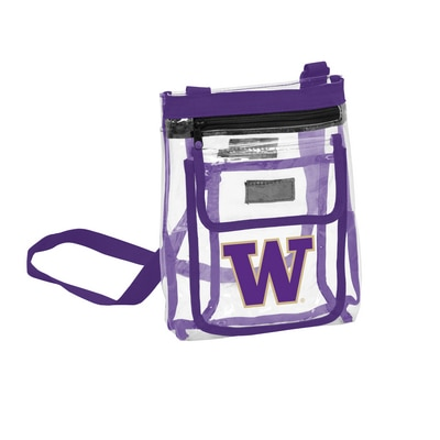 Washington Huskies Clear Crossbody Tote
