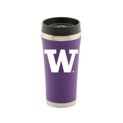 Washington Huskies 16oz Satin Finish Stainless Steel Travel Tumbler