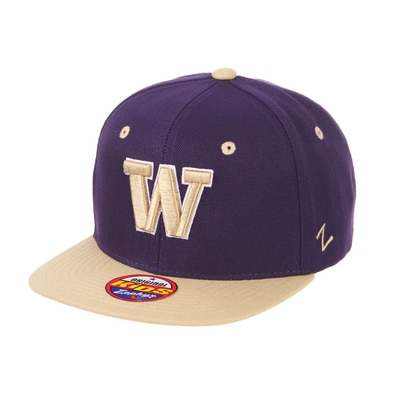Washington Huskies Zephyr Youth Z11 Flat Bill Adjustable Snapback Cap Hat