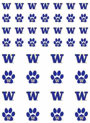 Washington Huskies 2pk Sticker Sheet