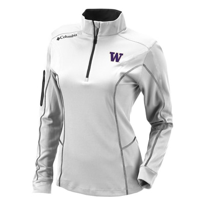 Washington Huskies Columbia Omni Wick Shotgun Quarter Zip