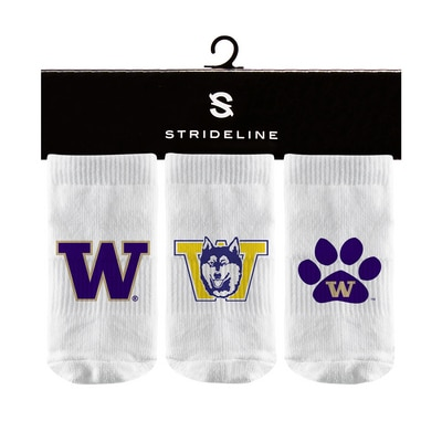 Washington Huskies Strideline 3-Pack Baby Socks