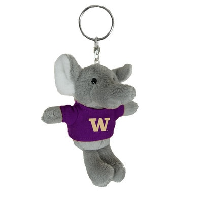 Washington Huskies 4in Plush Elephant Keychain