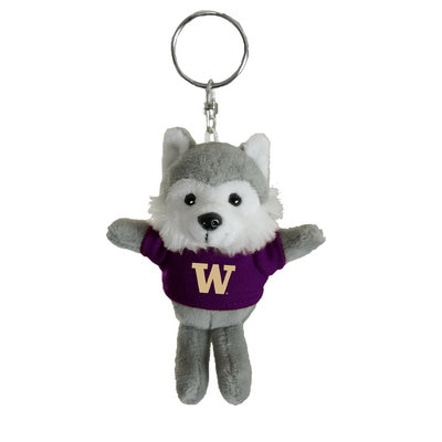 Washington Huskies 4in Plush Husky Keychain