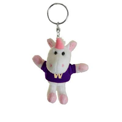 Washington Huskies 4in Plush Unicorn Keychain