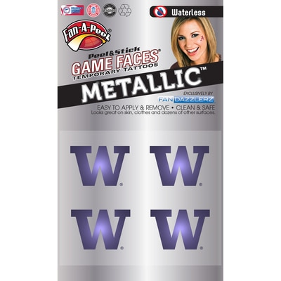 Washington Huskies Metallic Game Faces