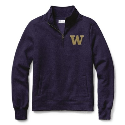 Washington Huskies Women's Classic Quarter Zip Sweatshirt