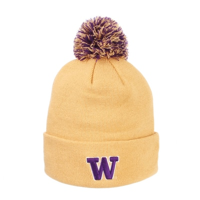 Washington Huskies Zephyr Pom Knit Cap Hat